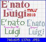 scritta: è nato luigi-e-nato-luigi-3-jpg