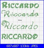 Richiesta nome * Riccardo* in 20 quadretti....-riccardo-verde2-jpg