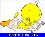 trasformare in schema Titti dormendo-tweety-sleeping-jpg