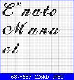 """scritta """" E' nato Manuel""""-manuel-jpg"""