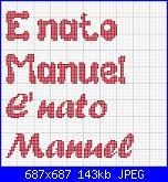 """scritta """" E' nato Manuel""""-manuel2-jpg"""