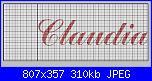 Nome Claudia in 20 Cm-claudia_2-jpg