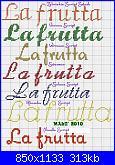 """Scritte: """"la frutta"""", """"la pasta"""" con alfabeto corsivo-la-frutta-jpg"""