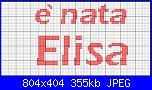 """Scritte """"è nata/è arrivata Elisa""""-e_nata_elisa1-jpg"""