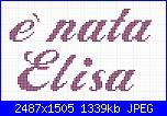 """Scritte """"è nata/è arrivata Elisa""""-e-nata-elisa-jpg"""