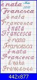 """Scritta """"E' nata Francesca""""-%E8-nata-francesca-49-jpg"""