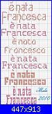 """Scritta """"E' nata Francesca""""-%E8-nata-francesca-50-jpg"""