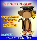 Scritte Laurea + scimmietta-evoluzione-jpg