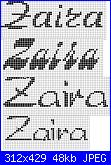 cerco schema per bavette con nome zaira-zaira-jpg