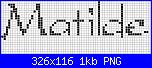 Chi mi aiuta con  il nome * Matilde* in corsivo-pic3271-png