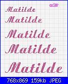 Chi mi aiuta con  il nome * Matilde* in corsivo-matilde8-jpg