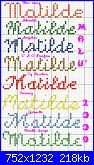 Chi mi aiuta con  il nome * Matilde* in corsivo-matilde9-jpg