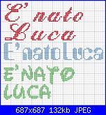 "Scritta nome "" E' nato Luca"" con font waltograph-nato%2520luca-jpg"