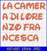 scritta La camera di Lorenzo e Francesca-la-camera-2-jpg