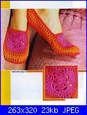 schema per Pantofole & Calzettoni-sapatilha-crochet-rendada1-jpg