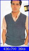 Uomo a Crochet-uomo-gilet-blu-1-jpg