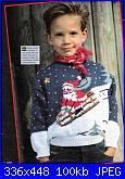 * Maglioncino bimbo 8 mesi con disegno natalizio *-m-jpg
