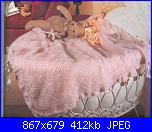 Copertina ai ferri per la nipotina-copertina-rosa-jpg