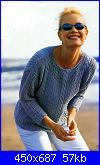 modelli ancora attuali  burda tendenze 4/2001-maglione-azzurro-1-jpg