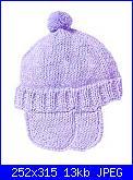 Cappelli,cuffiette,sciarpe.muffole,borse portatutto per bimbi da 0 a 12 anni-cappellino-jpg