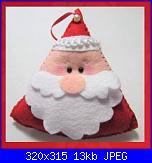 Decorazioni natalizie in feltro (con cartamodelli)-babbo-triangolo-foto-jpg