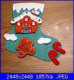 Work in progress - stivale bucilla con casetta gingerbread-img_20191109_191043-jpg