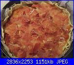 Torta salata ai porri e prosciutto crudo-steso-prosciutto-jpg