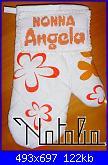 Ricami eseguiti usando gli alfabeti e le scritte preparati da  Malù-guanto-jpg