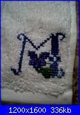 Ricami eseguiti usando gli alfabeti e le scritte preparati da  Malù-img00487-20110314-0833-jpg