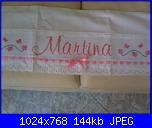 Ricami eseguiti usando gli alfabeti e le scritte preparati da  Malù-p110821003-jpg