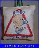 """""""Bimbo a bordo"""", """"Mamma a bordo"""", """"Cane a bordo"""" - gli schemi di Natalia-p1000473-1-jpg"""