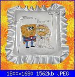 Portafedi  - con gli schemi di Natalia-cuscino-spongebob-mod-jpg