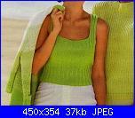 Il tema di maggio : CANOTTE E TOP-top-verde-coste-lavorato-maglia-jpg