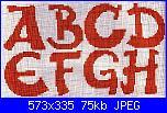 Alfabeti tradizionali colorati-alfa-rosso-puntini-neri-1-jpg
