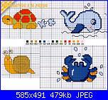 Piccoli schemi infantili-tartaruga-balena-lumaca-jpg