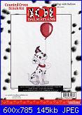 Counted Cross Stitch Kit - Disney's 101 Dalmatians-pup-balloon-31007-jpg