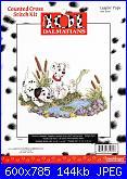 Counted Cross Stitch Kit - Disney's 101 Dalmatians-leapin-pups-31011-jpg