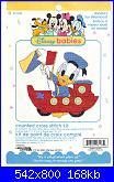 Leisure Arts 113137 - Donald's Toy Steamboat - Baby Paperino su barchetta giocattolo-00-jpg