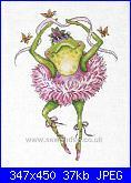 Design works- 2757 - Frog Dancer Ballet Flowers-dw-2757-jpg