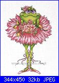 Design works- 2756- Frog Bouquet Flowers-dw-2756-jpg