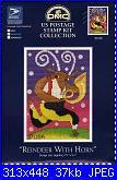 DMC - Us Postage Stamp - Reindeer With Horn-dmc-us-postage-stamp-reindeer-horn-jpg