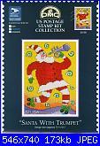 DMC - Us Postage Stamp - Santa With Trumpet-dmc-us-postage-stamp-santa-trumpet-jpg