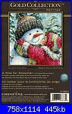 Dimensions 70-08833 - A Kiss for Snowman-70-8833-jpg