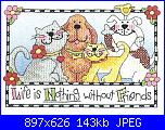 Dimensions 65101 - Life is nothing without friends-1-jpg