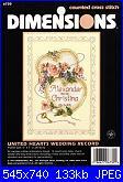 Dimensions 6730 - United Hearts Wedding Record - 1997-dimensions-6730-united-hearts-wedding-record-1997-jpg