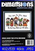 Dimensions 6610 - Jesus Loves the Little Children-dimensions-6610-jesus-loves-little-children-jpg