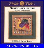 Mill Hill MHCB158 - Spring Rooster - Spring Series VIII-mill-hill-mhcb158-spring-rooster-spring-series-viii-jpg