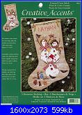 Dimensions 07962 -Snowmen Stocking - Anne McKinney-07962-3-snowmen-stocking-jpg