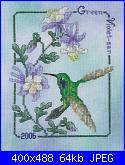 Crossed Wing Collection - Hummingbird 2006 - Green Violet ear-crossed-wing-collection-hummingbird-2006-green-violet-ear-jpg