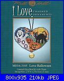 Mill Hill - MH16-3105 - I love charmed ornaments - love halloween-mh16-3105-love-halloween-jpg